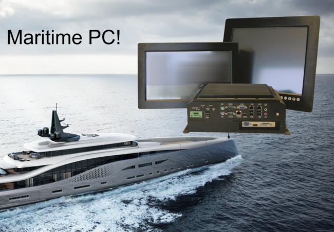 Marinegodkjente PanelPC-er, monitorer og BoksPC-er for maritim bruk.