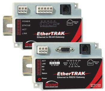 Ethernet til RS232 omformer for MODBUS