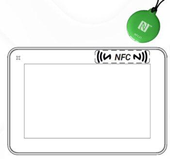 """JSmart707 NFC, 7"""" Operatørpanel, 1xPOE LAN with NFC sensor"""