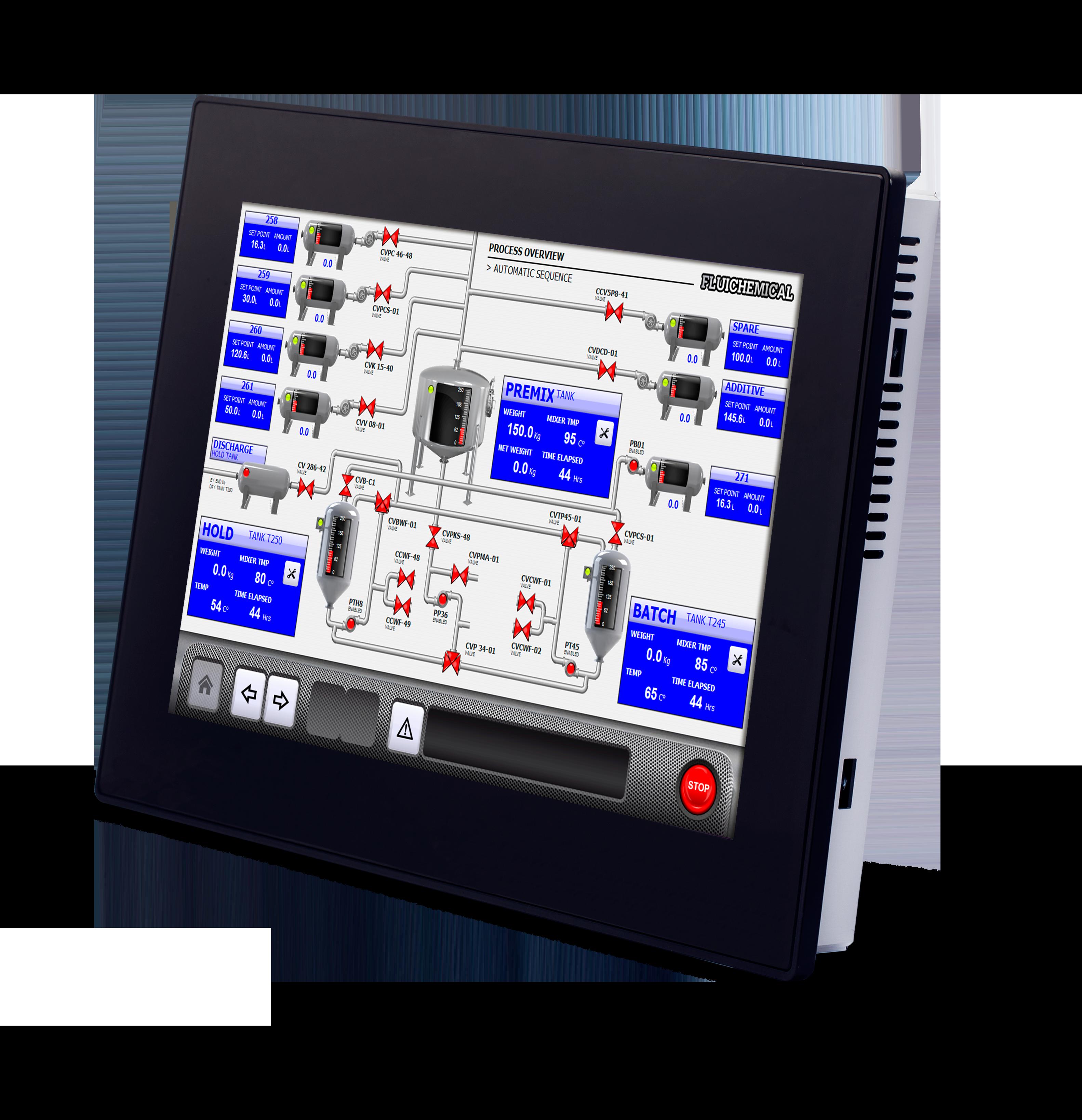 "eX715, Operatørpanel 15,6"" PCT Touch 3xLAN, 1xSerial, 2xUSB"